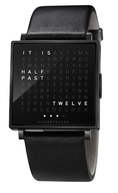 watchismo times qlocktwo w watch from biegert funk of. Black Bedroom Furniture Sets. Home Design Ideas