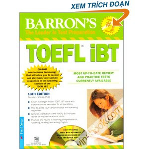Barrons TOEFL iBT 13th Edition Free Download | DxSchool