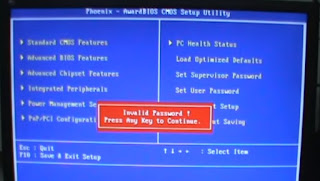 How can i clear bios password