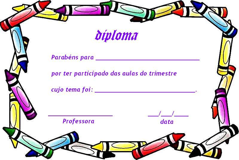 Plantillas de diplomas para rellenar e imprimir - Imagui