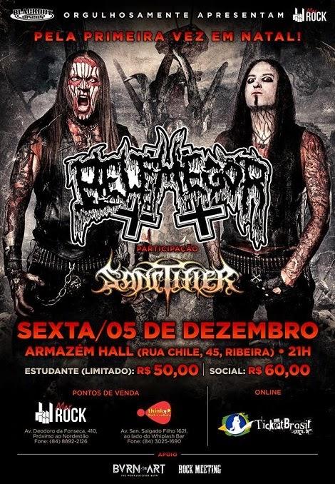 05-12-2014 - BELPHEGOR e SANCTIFIER - Natal - RN