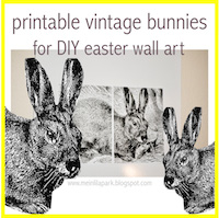 free printable rabbit wall art
