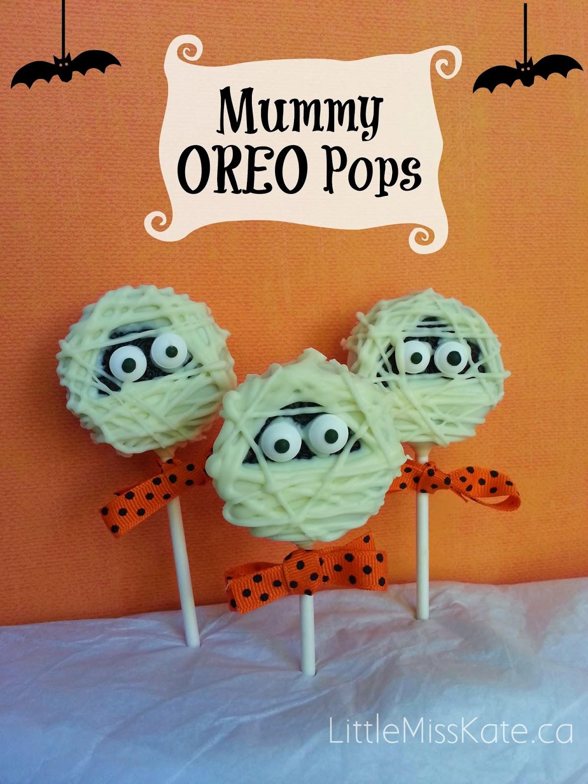 Mummy Oreo Pops