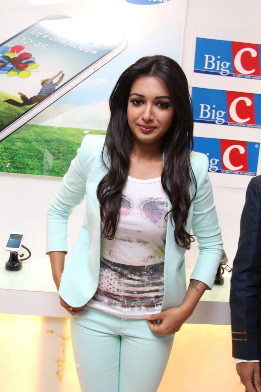 Actress catherine tresa at big c store