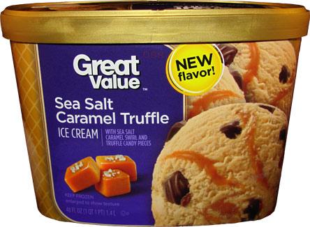 ... Scoop: Ice Cream Reviews: Walmart Sea Salt Caramel Truffle ice cream
