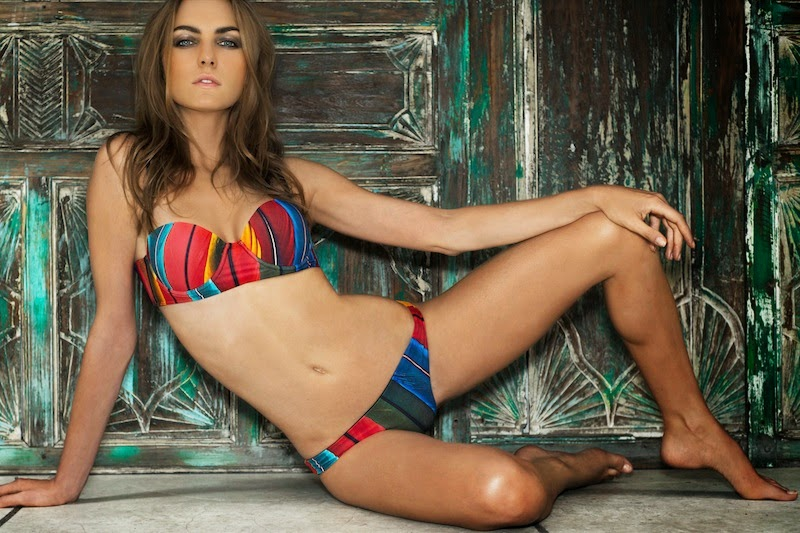 Gypsea Swimwear, Australian Label, Western Australia, nature, printed swimwear, Paradise Collection 2014/15, bikini, model