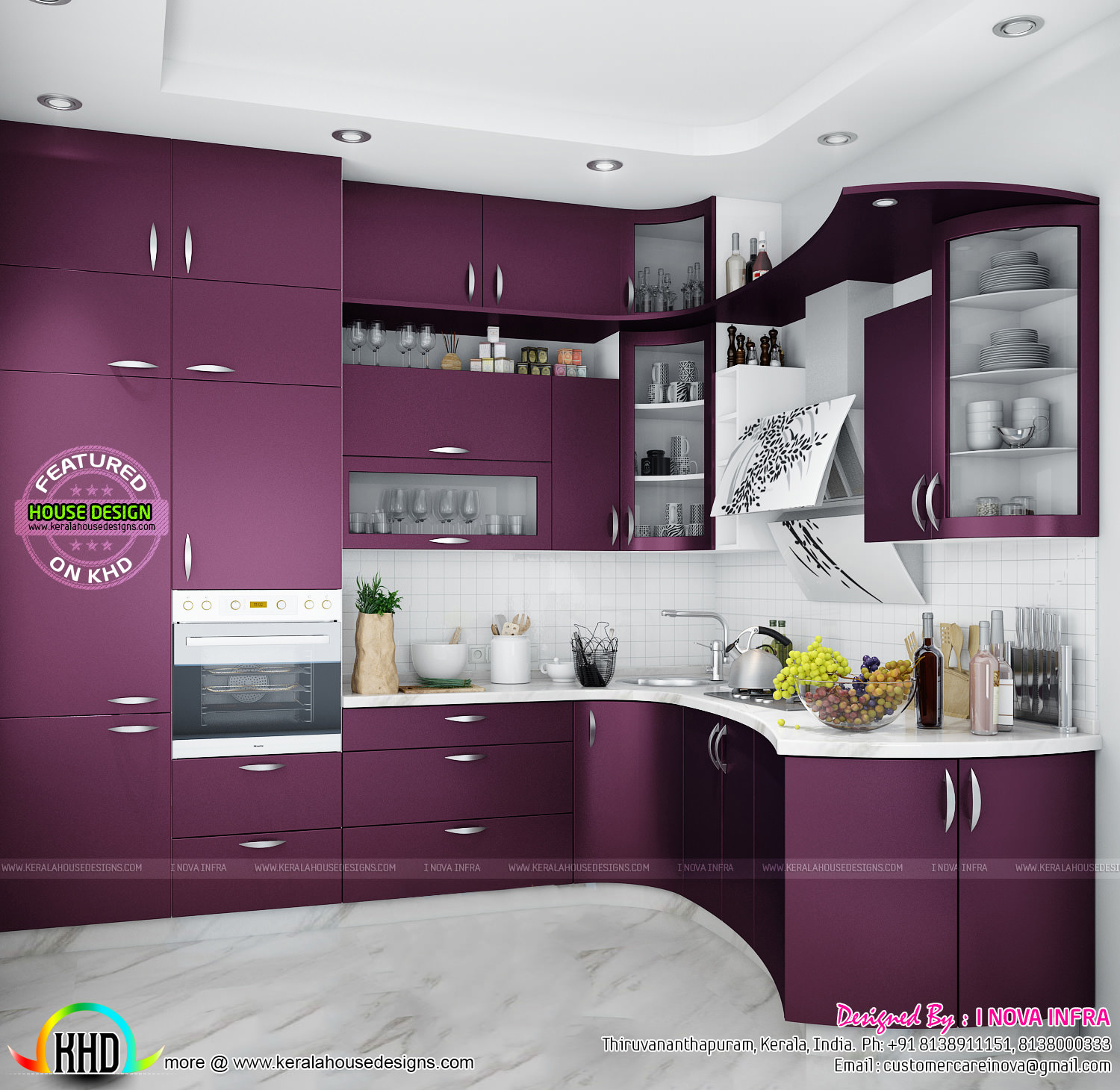 Modular kitchen kerala kerala home design and floor plans for House kitchen design photos