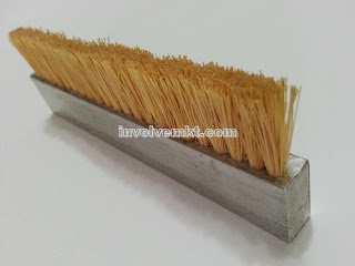 tampico fiber brush, aluminium base flat brush