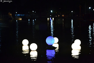 bright lights on the pond