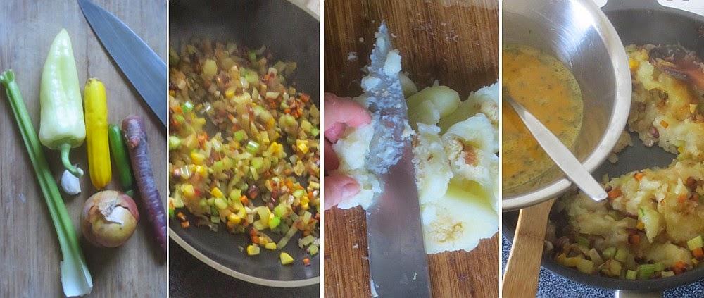 Zubereitung Eingeschnittene Klöße mit Gemüse