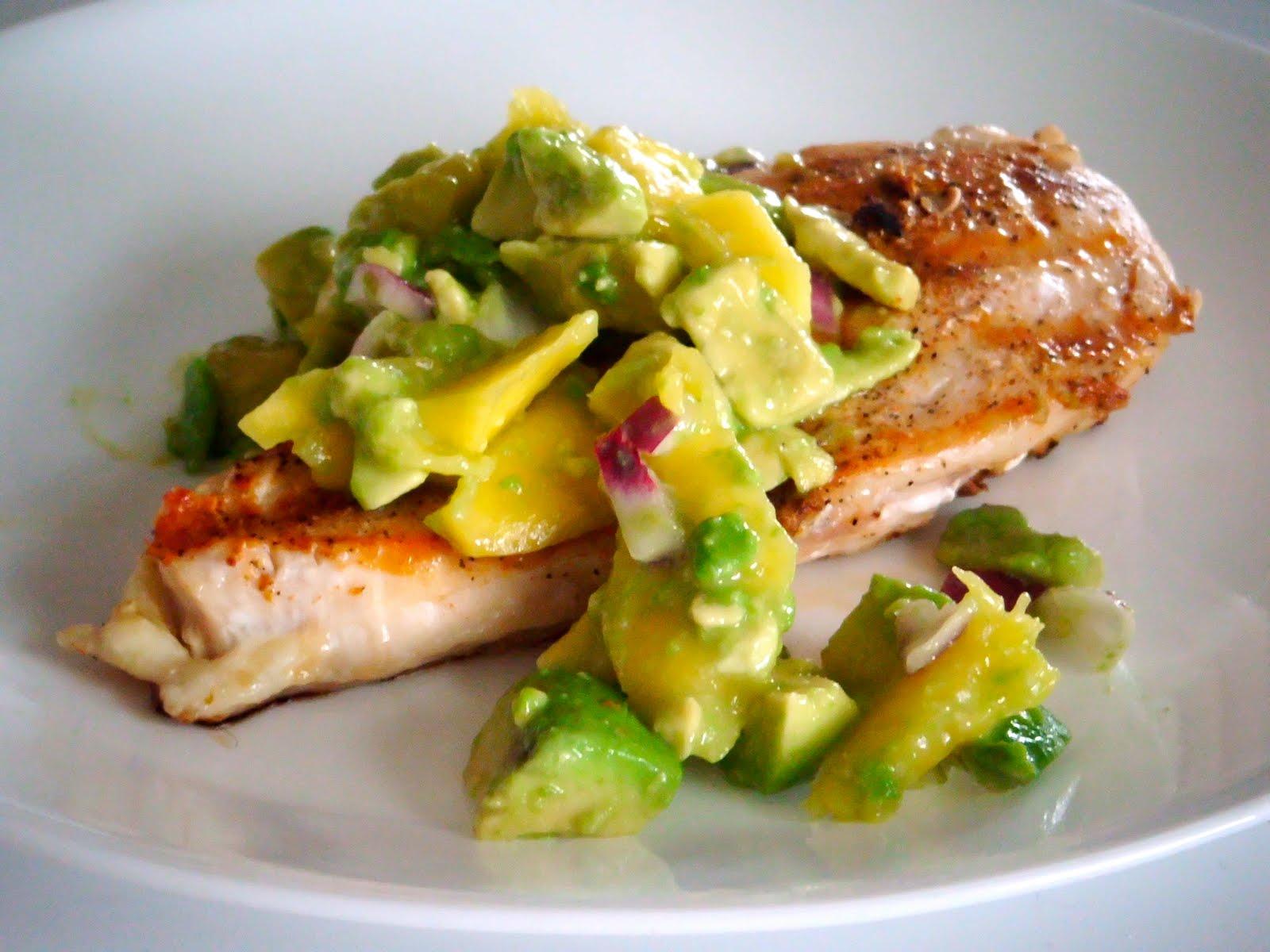 Recipe Addiction: Cayenne Rubbed Chicken with Avocado Salsa