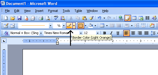 2 we can directly change the color from the drop down beside that icon once we apply border to the page or we can click on the icon to get a dialog box - How To Change Page Color In Word