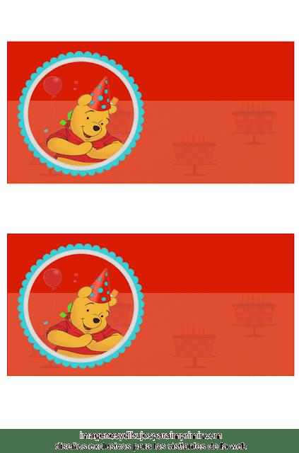 Invitaciones de cumpleaños de winnie the pooh para imprimir