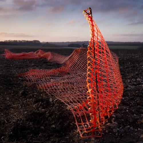 Mesh Fence, Barton Farm © Graham Dew 2015