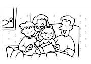 DIBUJOS PARA DIBUJAR MI FAMILIA QUE PUEDES DESCARGAR E IMPRIMIR. familia leyendo