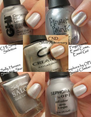 Wonderful Silver Nails Designs