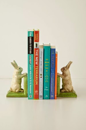 Handpainted Bunny Bookends - Anthropologie - www.anthropologie.com