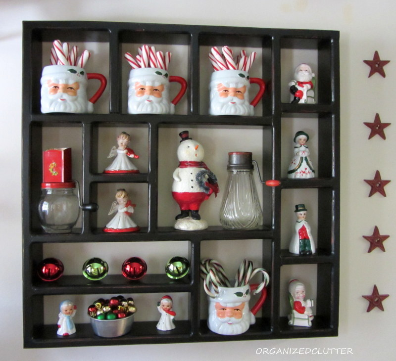 Kitchen christmas shadow box organized clutter - Salt and pepper shaker display case ...