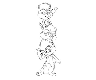 #8 Alvin and the Chipmunks Coloring Page