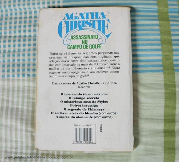 Resenha, livro, O assassinato no campo de golfe, Agatha Christie, trechos, contracapa, sinopse