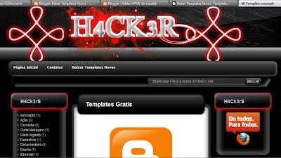 Template Hacker 2012 para Blogger