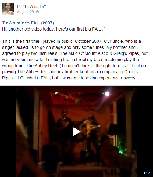 TinWhistler's FAIL (2007) (video on FB)