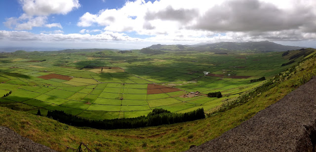 Patchwork fields in Terceira, Azores, Portugal, on Semi-Charmed Kind of Life