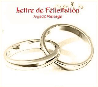 Lettre de félicitation mariage gratuite