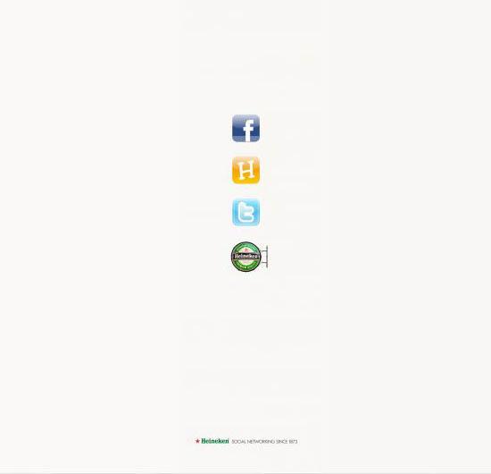 anúncios minimalistas e criativos na internet - Heineken