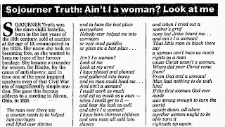 aint i a woman short There is some controversy regarding sojourner truth's famous 'ain't i a woman' speech listed above there are different versions of the speech.
