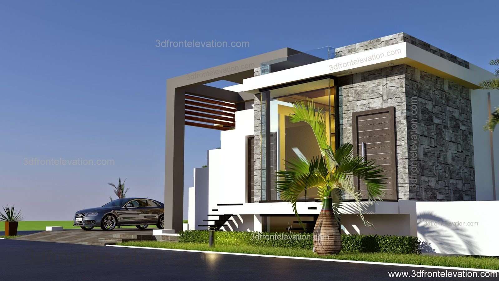 3d front afghanistan house design 2015 for Create house design 3d