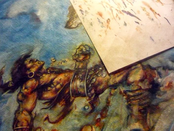 Conan painting, Work In Progress by Jeff Lafferty