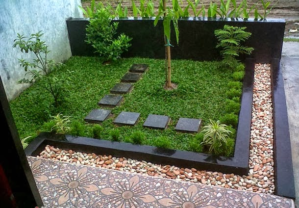 Gambar Desain Taman Depan Rumah yang Minimalis