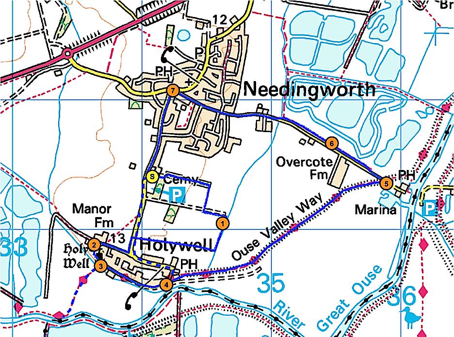 Cambridgeshire walks: Holywell circular walk