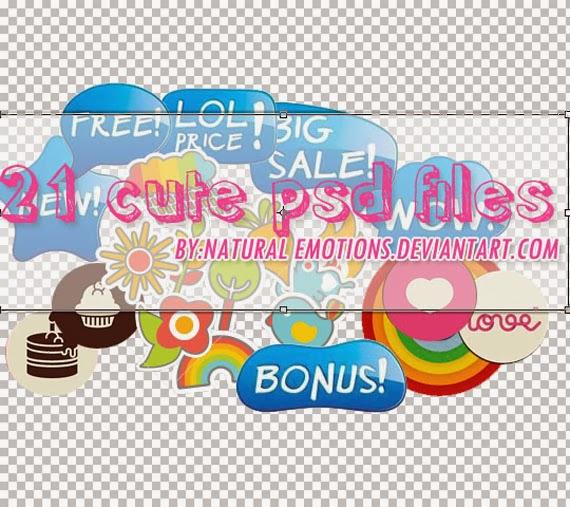 21 Cute PSD files