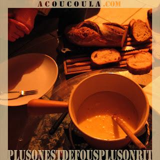 recette de la fondue