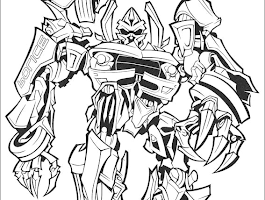 Lego Coloring Page Transformer Optimus Prime