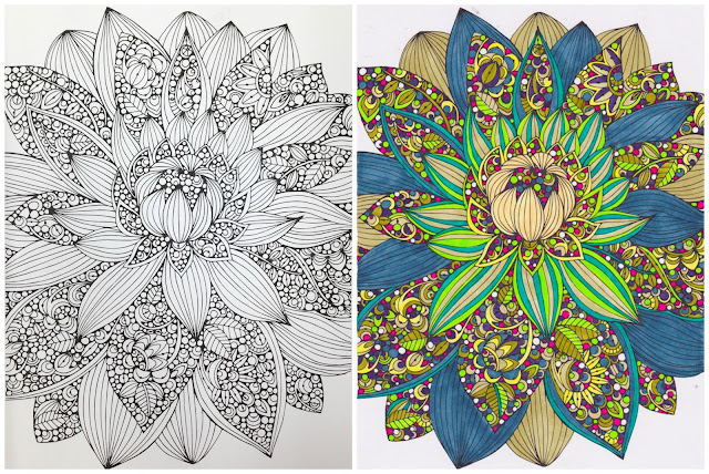 flower adult coloring page