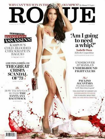 Isabelle Daza  Rogue Cover Magazine on May 2012 issue controversial