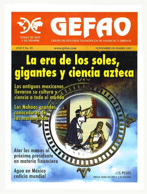 La era de los soles, Gigantes y Ciencia Azteca Revista GEFAO