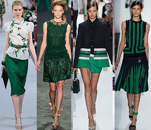 moda verde esmeralda