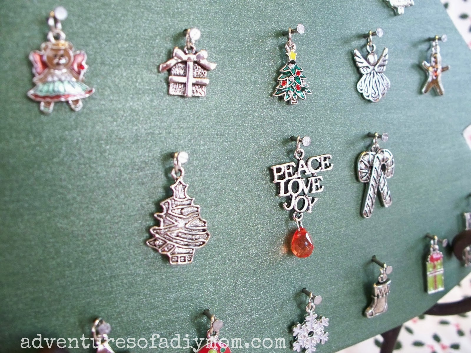 Christmas Charm Advent Tree |Adventures of a DIY Mom