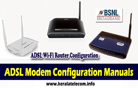 Broadband Modem Configuration Manuals for Wired ADSL WiFi Routers