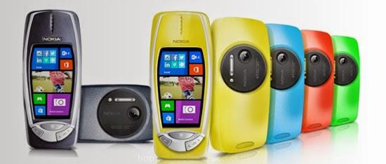 Nokia 3310 con el Lumia 1020