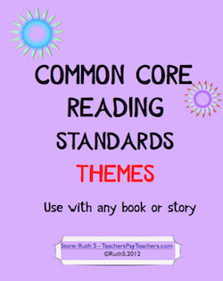 photo of Common Core Standards Reading Themes PDF Teacher Park