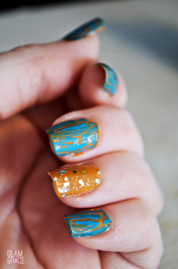 bright nail trends - special effects - crackle