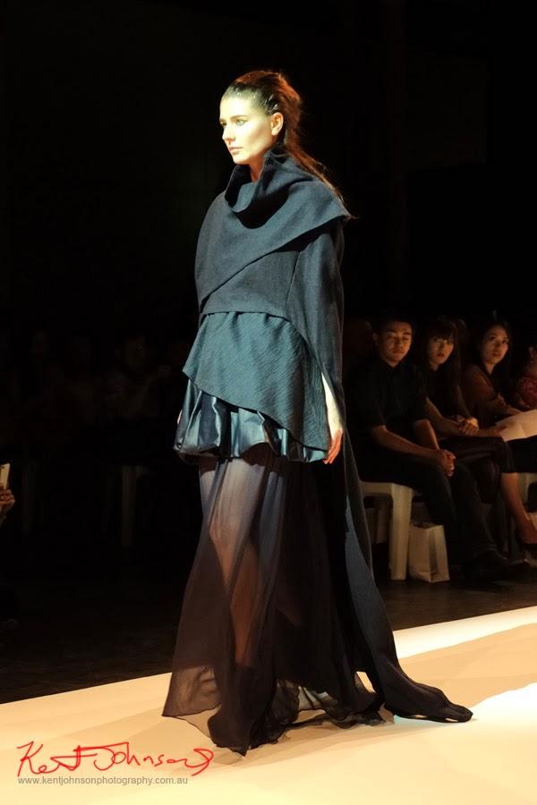 Anna Pham; black dress, gothic -  New Byzantium : Raffles Graduate Fashion Parade 2013 - Photography by Kent Johnson.