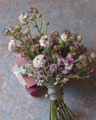 Wedding Bouquet Painterly Purples