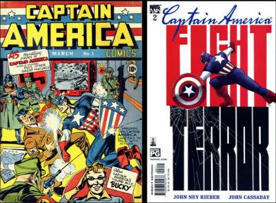 captain america capitan america marvel comics 11-S world trade center number numero 1 hitler terror