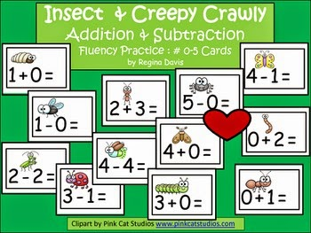 http://www.teacherspayteachers.com/Product/A-Insect-and-Creepy-Crawly-Addition-Subtraction-Fluency-Practice-Cards-0-5-670451